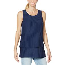 """""""As Is"""" DG2 by Diane Gilman Pleated Easy Tank"""