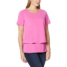 """""""As Is"""" DG2 by Diane Gilman Short-Sleeve Easy Knit Top"""
