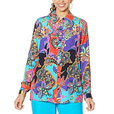 """""""As Is"""" DG2 by Diane Gilman Signature Collection Silk Blend Top"""
