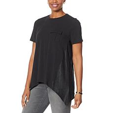 """""""As Is"""" DG2 by Diane Gilman SoftCell Combo Tee with Pocket"""