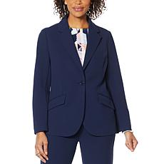 """""""As Is"""" DG2 by Diane Gilman Stretch Crepe Blazer - Solid"""