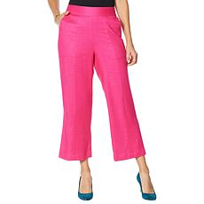 """""""As Is"""" DG2 by Diane Gilman Stretch Linen-Blend Crop Pant"""
