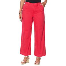 """""""As Is"""" DG2 by Diane Gilman Stretch Twill Wide-Leg Chino Pant"""
