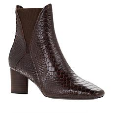 """""""As Is"""" Donald J. Pliner Austen Pull-On Snake-Embossed Leather Bootie"""