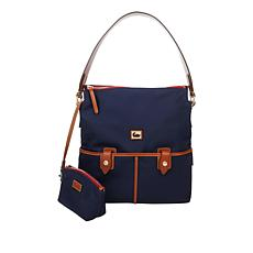 """""""As Is"""" Dooney & Bourke Camden Nylon Hobo Bag with Cosmetic Pouch"""
