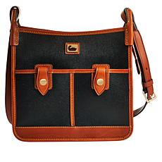 """As Is"" Dooney & Bourke Camden Saffiano Leather Double Pocket Cross..."