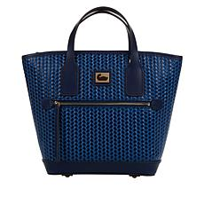 """As Is"" Dooney & Bourke Woven Leather Small Convertible Tote"