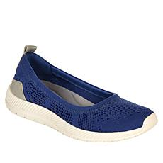 """As Is"" easy spirit Glitz Slip-On Sport Flat Walking Shoe"