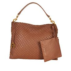 """""""As Is"""" Etienne Aigner Irena Woven Leather Hobo Bag"""