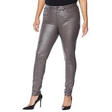 """As Is"" G by Giuliana Coated Skinny Moto Jean"