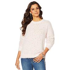 """""""As Is"""" G by Giuliana Confetti Knit Multicolor Pullover Sweater"""