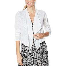 """As Is"" G by Giuliana Cropped Cascade Cardigan"