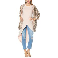 """""""As Is"""" G by Giuliana EcoLuxe Drama Tank with Scarf"""