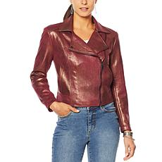 """""""As Is"""" G by Giuliana Faux Suede Moto Jacket"""