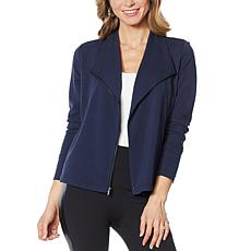 """""""As Is"""" G by Giuliana French Terry Moto Jacket"""