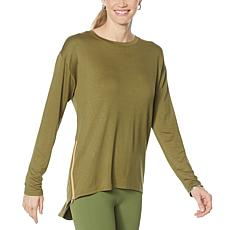 """""""As Is"""" G by Giuliana French Terry Side-Zip Hi-Low Tunic"""
