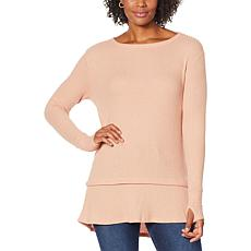 """""""As Is"""" G by Giuliana Long-Sleeve Brushed Waffle-Knit Top"""