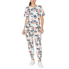 """""""As Is"""" G by Giuliana LounGy Short Sleeve Jogger Lounge Set"""