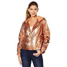 """As Is"" G by Giuliana Metallic Hooded Jacket"
