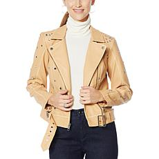 """""""As Is"""" G by Giuliana Studded Faux Leather Jacket"""