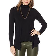 """""""As Is"""" G by Giuliana Turtleneck Fit and Flare Tee"""
