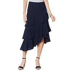"""As Is"" G by Giuliana Woven Ruffle Skirt"