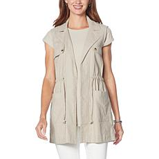 """""""As Is"""" G by Giuliana Woven Utility Cargo Vest"""