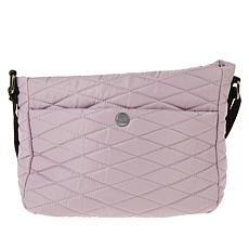 """As Is"" Girlfriend Gear Diamond Quilt Crossbody Travel Bag"