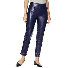 """As Is"" H Halston Faux Leather Seamed Pull-On Pant"