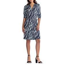 """As Is"" H Halston Jet Set Jersey Knit Wrap Dress"