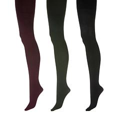 """""""As Is"""" HUE 3pk Contoured Fit Smoothing Opaque Tights"""