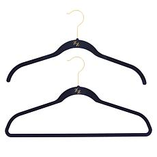 """As Is"" Huggable Hangers 20-pack of Shirt & Suit Hangers with Chrom..."