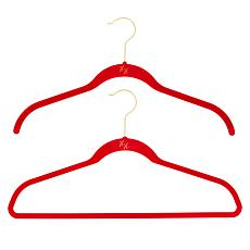 """""""As Is"""" Huggable Hangers 20-pack of Shirt & Suit Hangers with Brass..."""