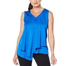 """As Is"" IMAN City Chic Asymmetric Tiered Tank"