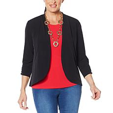 """As Is"" IMAN Global Chic Drape Front Cardigan"