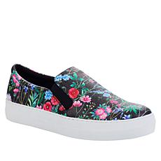 """As Is"" IMAN Global Chic Floral Print Slip-On Sneaker"