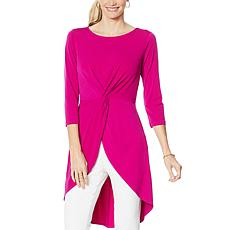 """""""As Is"""" IMAN Global Chic Hi-Low Drama Top with Twist Detail"""
