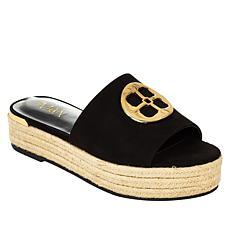 """""""As Is"""" IMAN Global Chic Logo Slide Sandal"""