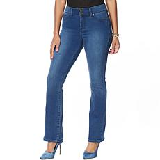 """As Is"" IMAN Global Chic Luxury Resort 360 Slim Bootcut Jean - Basic"