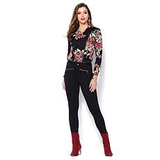 """""""As Is"""" IMAN Global Chic Power Ponte Ankle Pant with Illusion Seaming"""