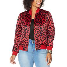"""""""As Is"""" IMAN Global Chic Reversible Bomber Jacket"""