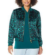 """As Is"" IMAN Global Chic Reversible Bomber Jacket"