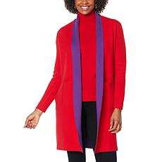 """""""As Is"""" IMAN Global Chic Reversible Pocket-Front Knitted Cardigan"""