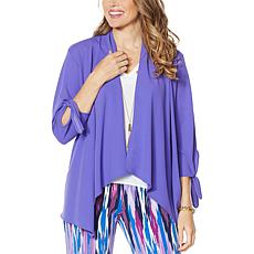 """As Is"" IMAN Global Chic Tie-Sleeve Jacket"
