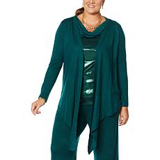 """As Is"" IMAN Global Chic Touch of Cashmere Convertible Cardigan"