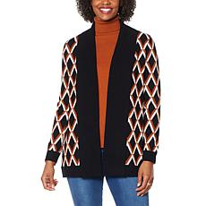 """""""As Is"""" IMAN Global Chic Wide Collar Knitted Cardigan"""