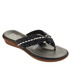 """As Is"" Italian Shoemakers Aylen Woven Thong Sandal"