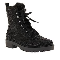 """""""As Is"""" Jessica Simpson Kalirah Lace-Up Embellished Hiker Boot"""