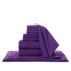"""""""As Is"""" JOY Supreme Stretch™ 10-piece Bleach/Cosmetic-Resistant Tow..."""