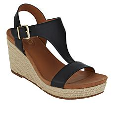 """As Is"" Kenneth Cole Reaction Card Espadrille Wedge T-Strap Sandal"